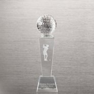 Crystal Sport Trophy - Golf Female